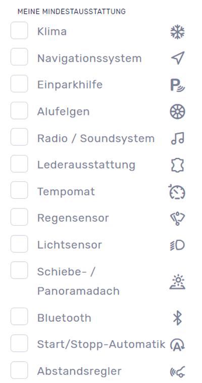 Suchformular für ein Auto-Abo von MeinAuto.de