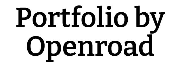 Portfolio by Open Road