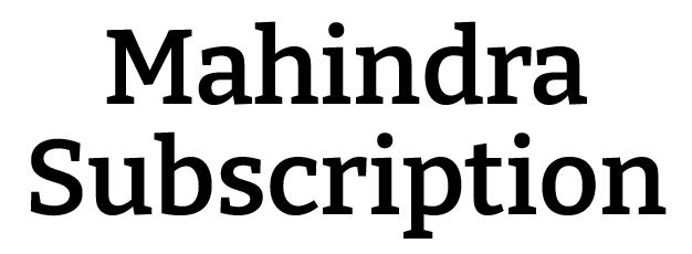Mahindra Subscription